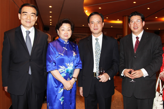 Ambassador Li Baodong, Representative to the United Nations and his wife Mrs. Lu Hailin Minister Counselor.
