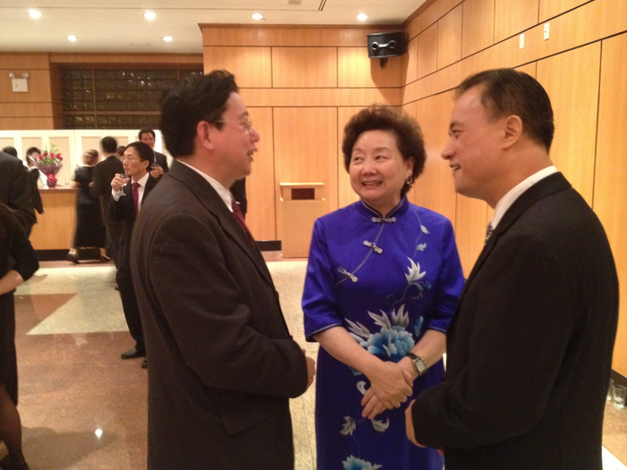Ambassador Li Baodong's wife Mrs. Lu Hailin Minister Counselor and Dr. Lin Rongsheng