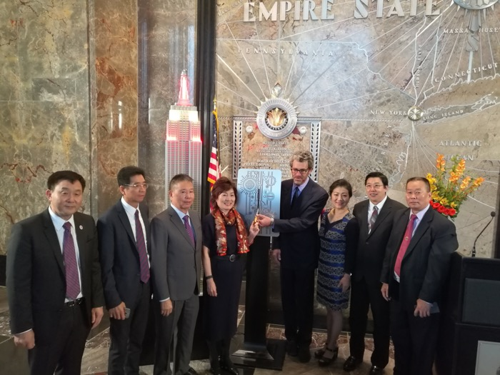 Invited to attend the lighting ceremony of the Empire State Building, October 4, 2017.