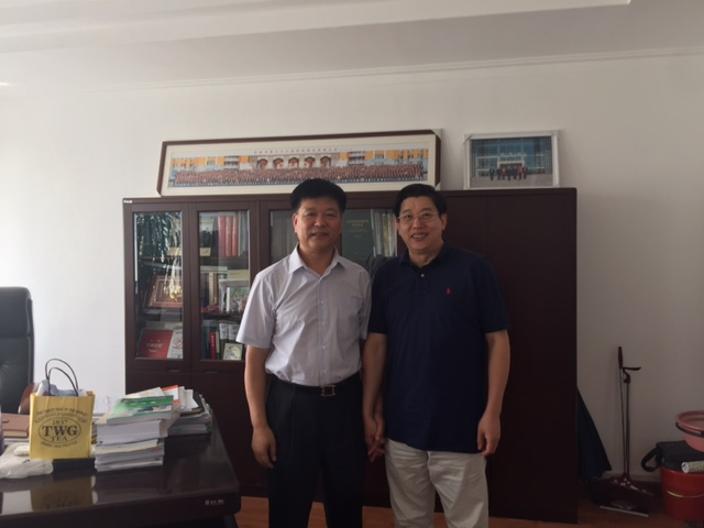 Dr. Decheng Chen had a meeting with Professor Song ,Bailin, President of Changchun University of Traditional Chinese Medicine on August 24, 2015