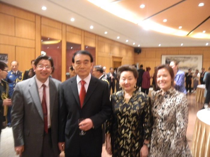 Ambassador Li Baodong, Representative to the United Nations and his wife Mrs. Lu Hailin Minister Counselo