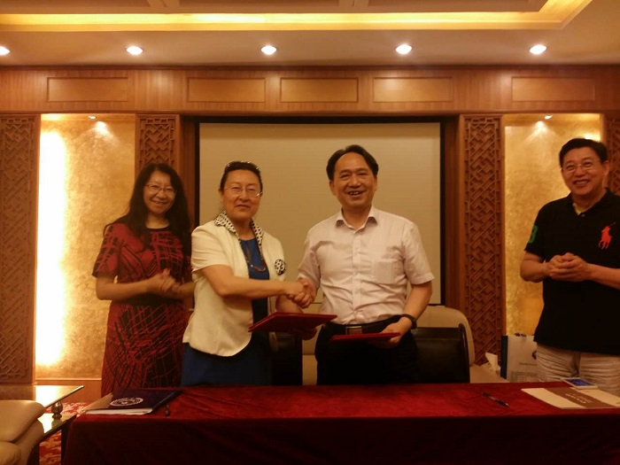 July 21, 2016, Dr. Decheng Chen promoted the collaboration in running schools between New York College of Health Professions, USA, and Nanjing University of Traditional Chinese Medicine, China
