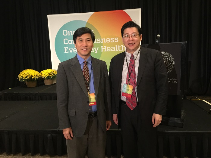 With Dr. Haihe Tian, the President of American Alumni Association