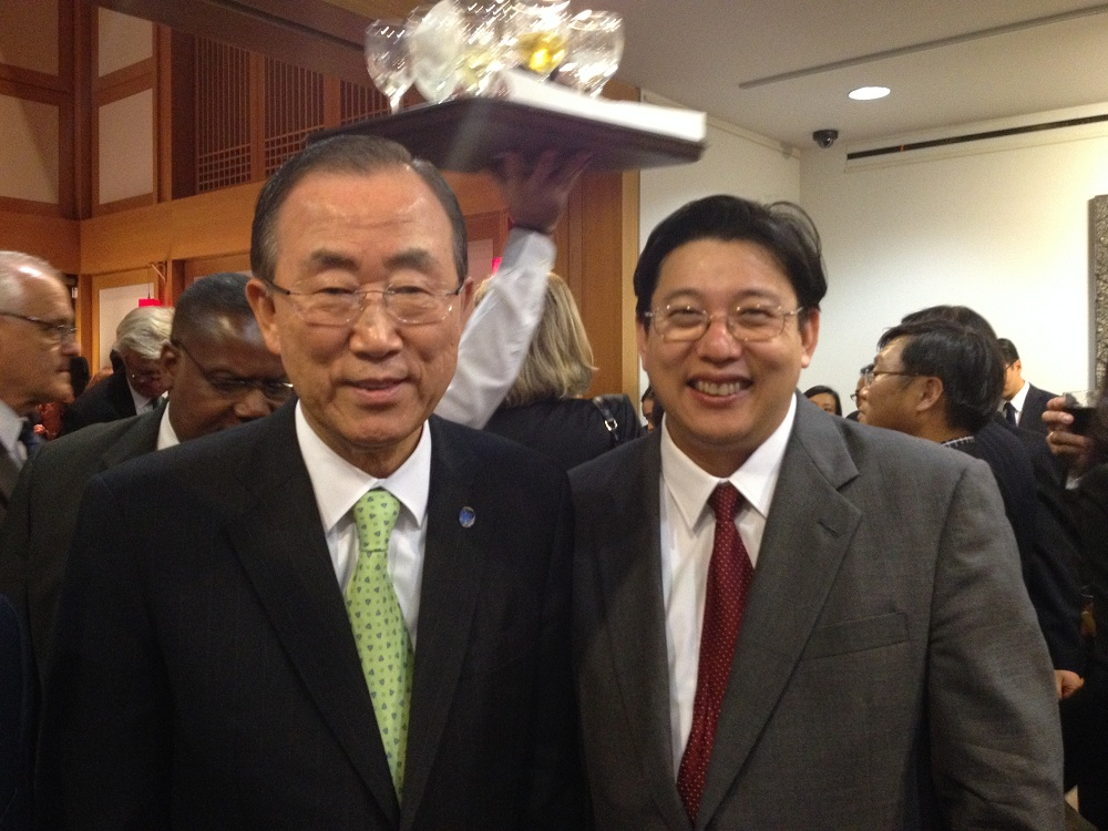With UN Secretary-General Ban Ki-moon (Oct. 31, 2013)