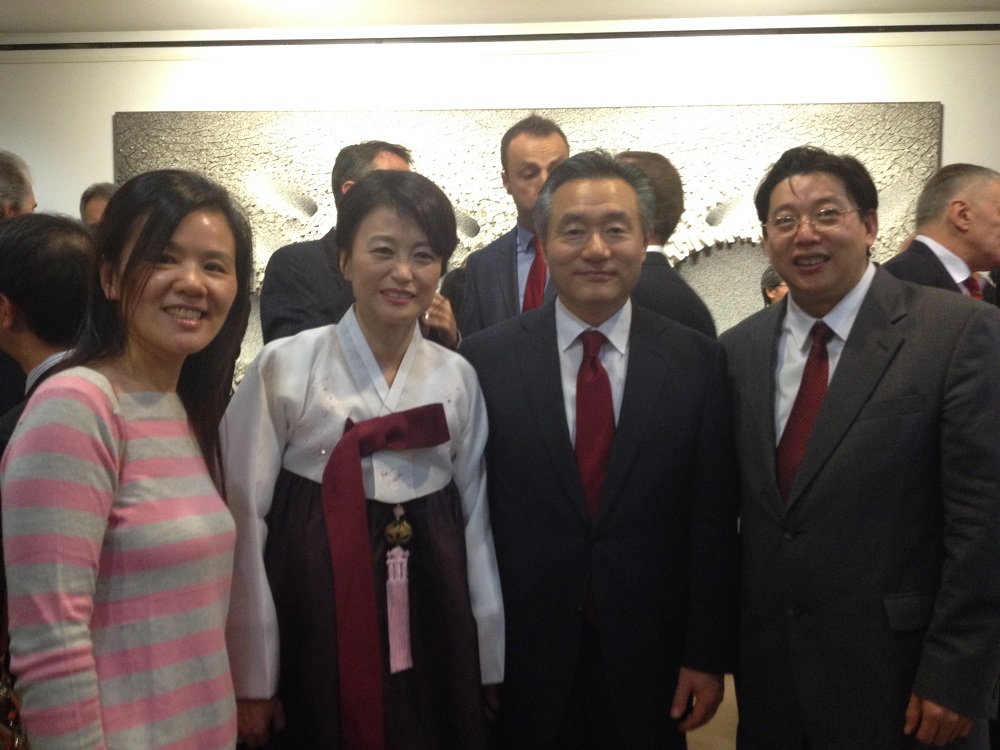 With Korean Ambassador Oh Joon and his wife (Oct. 31, 2013)